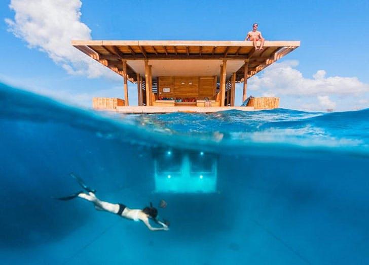 Manta Resort Tanzania underwater hotel