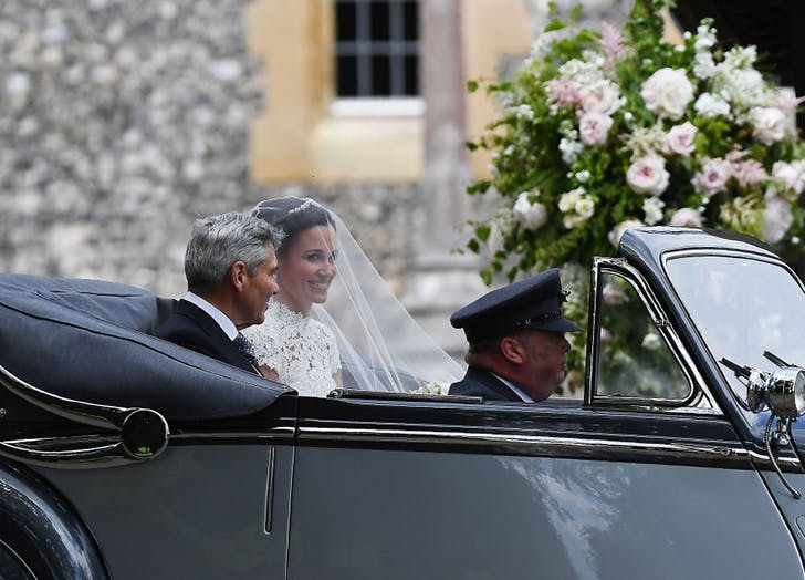 Pippa Middleton with Dad before wedding