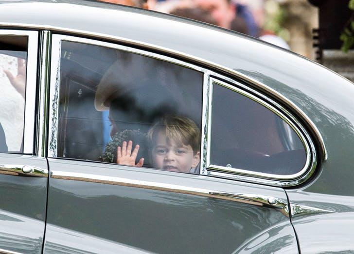 Prince George Waving Pippa Middleton s Wedding