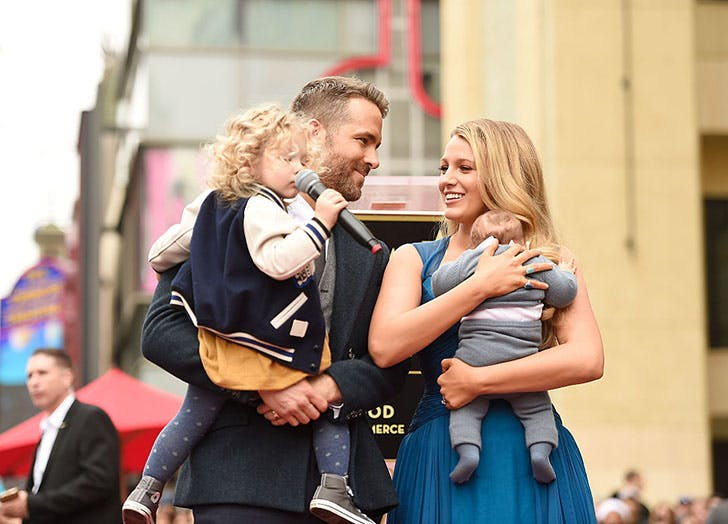 Ryan Reynolds and Blake Lively with children