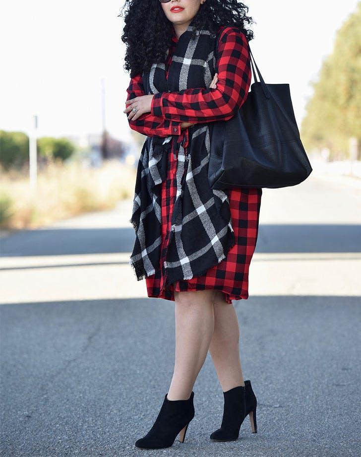 SF wear everywhere dresses plaid shirtdress LIST
