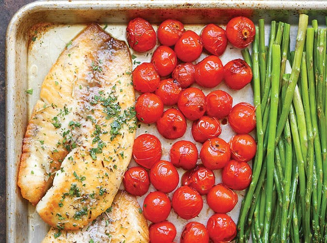 Sheet Pan Garlic Butter Tilapia 501