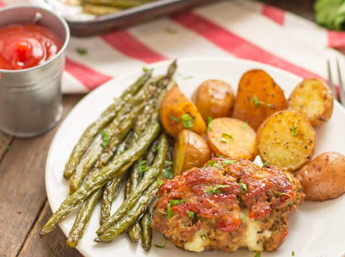 Sheet Pan Mini Meatloaves with Potatoes Green Beans 5012