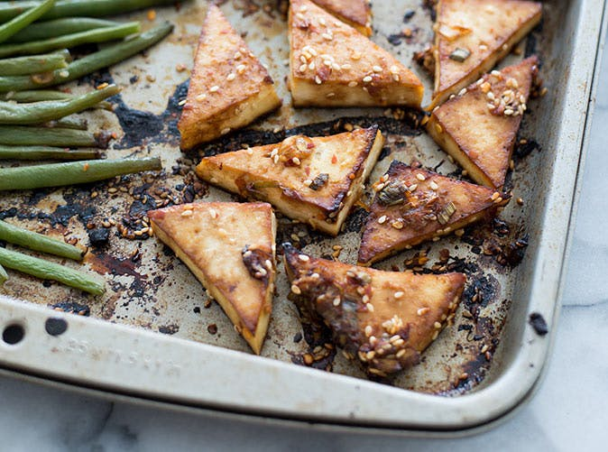 Sheet Pan Spicy Tofu and Green Beans 501