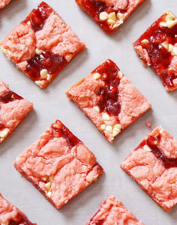 Strawberry Cake Mix Brownies