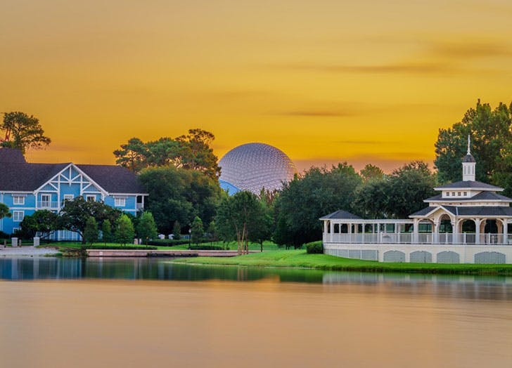 Sunset over Walt Disney World