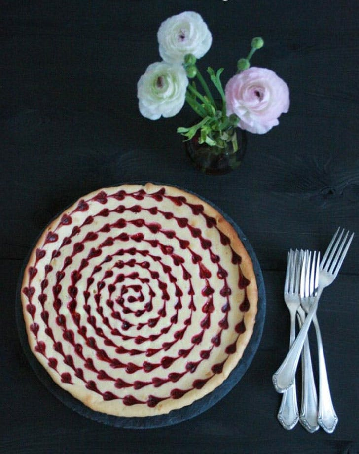 White Chocolate Raspberry Cheesecake Baked to the roots