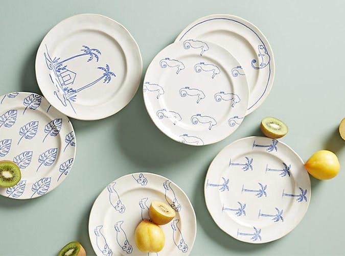 anthropologie dessert plates