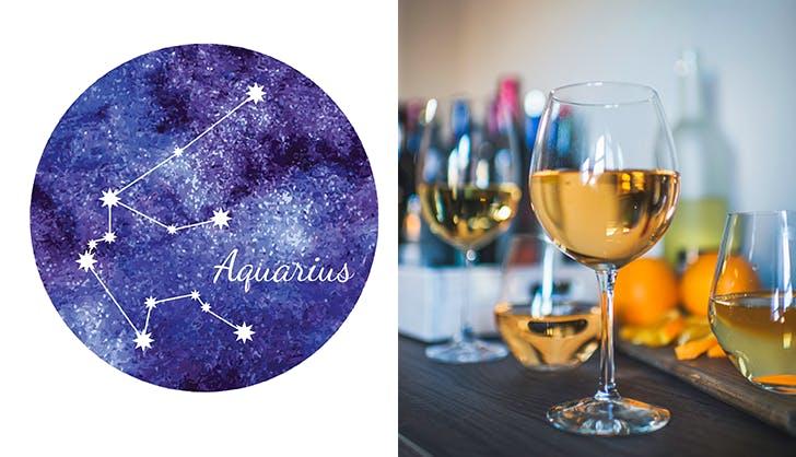 aquarius orange wine