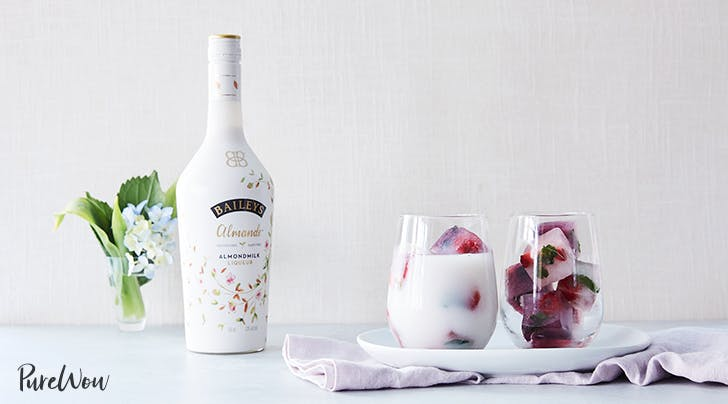 Baileys Almande with Fruity Coconut Water Ice Cubes