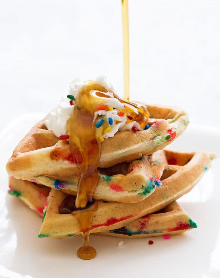 birthday waffles cake mix recipe