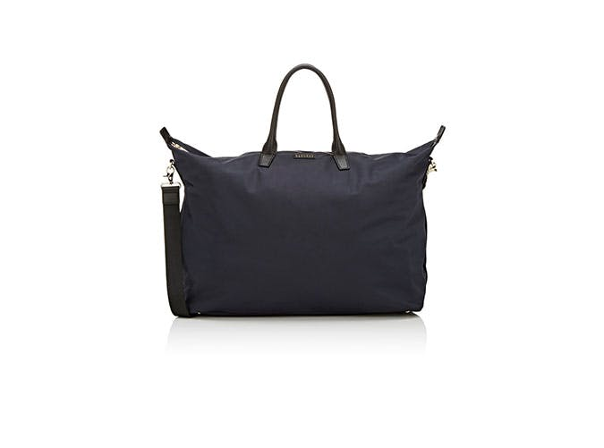 black canvas tote inflight essentials