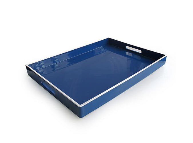 blue pool tray
