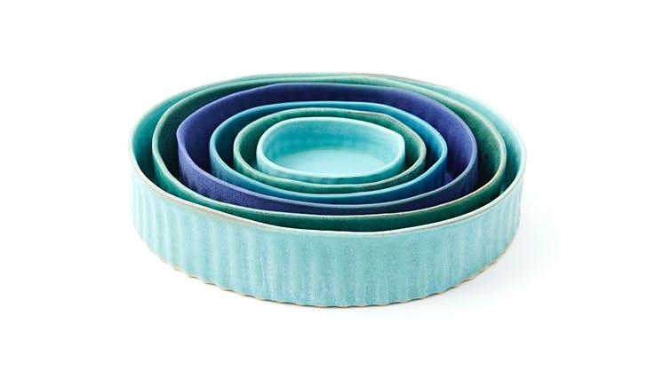 blue ramekins