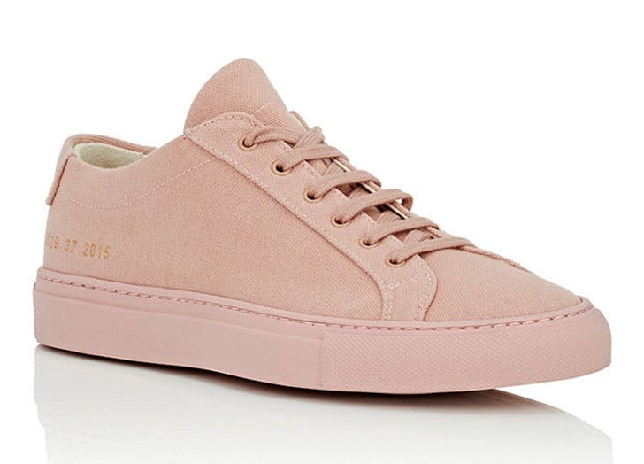 blush sneakers common projects