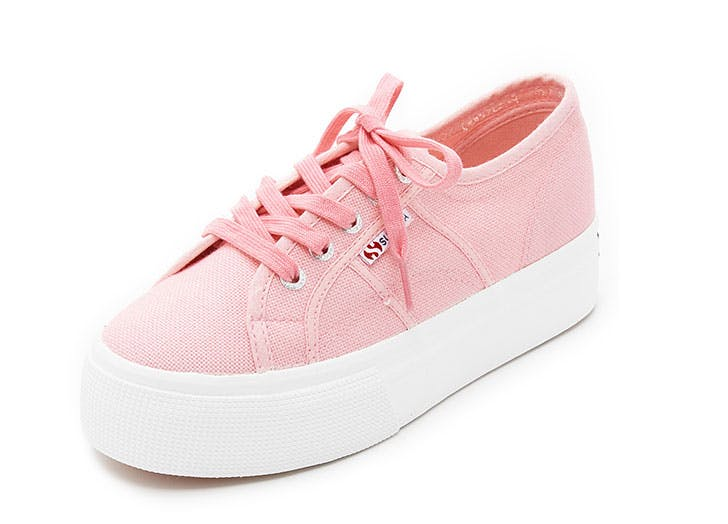 blush sneakers superga