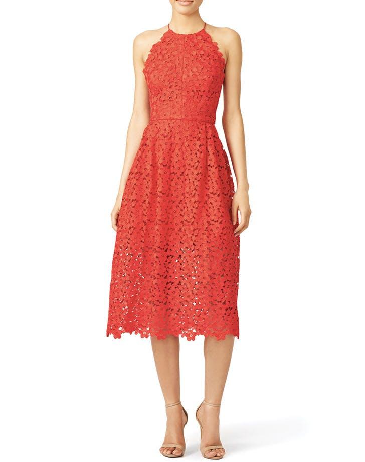 bridesmaid dress red