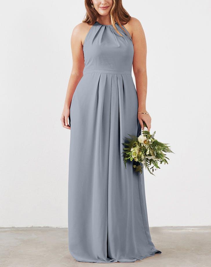 bridesmaid dress highneck