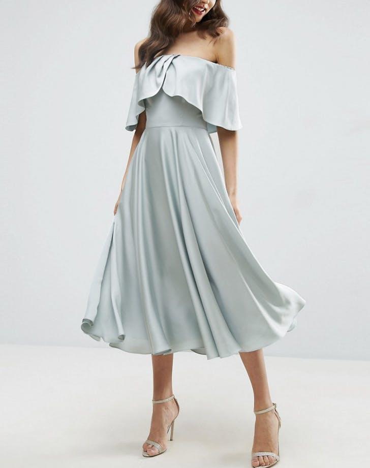 bridesmaid dresses bardot