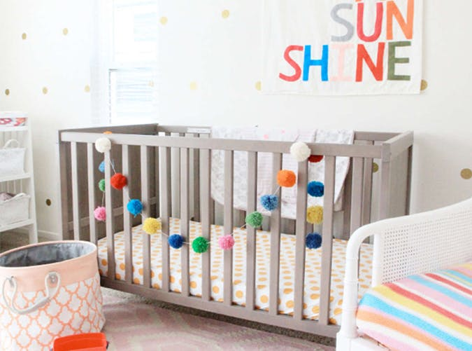 bright colors baby nursery trend