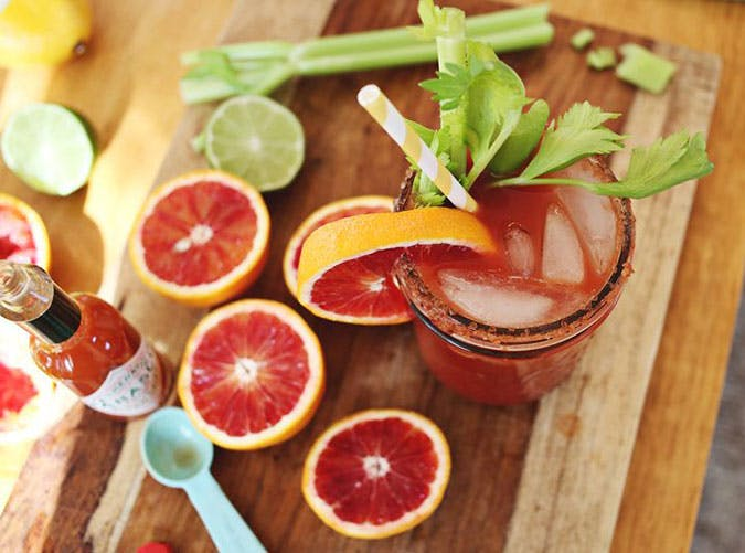 brunch cocktails blood orange bloody mary