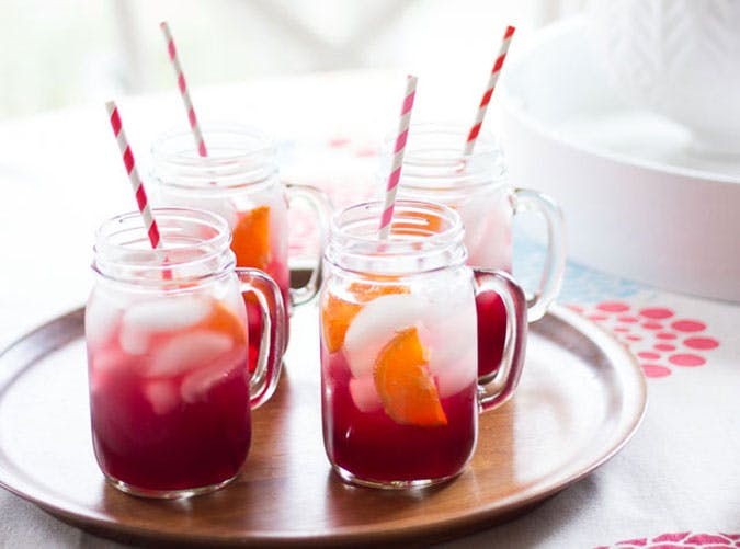 brunch cocktails pomegranate spritzers