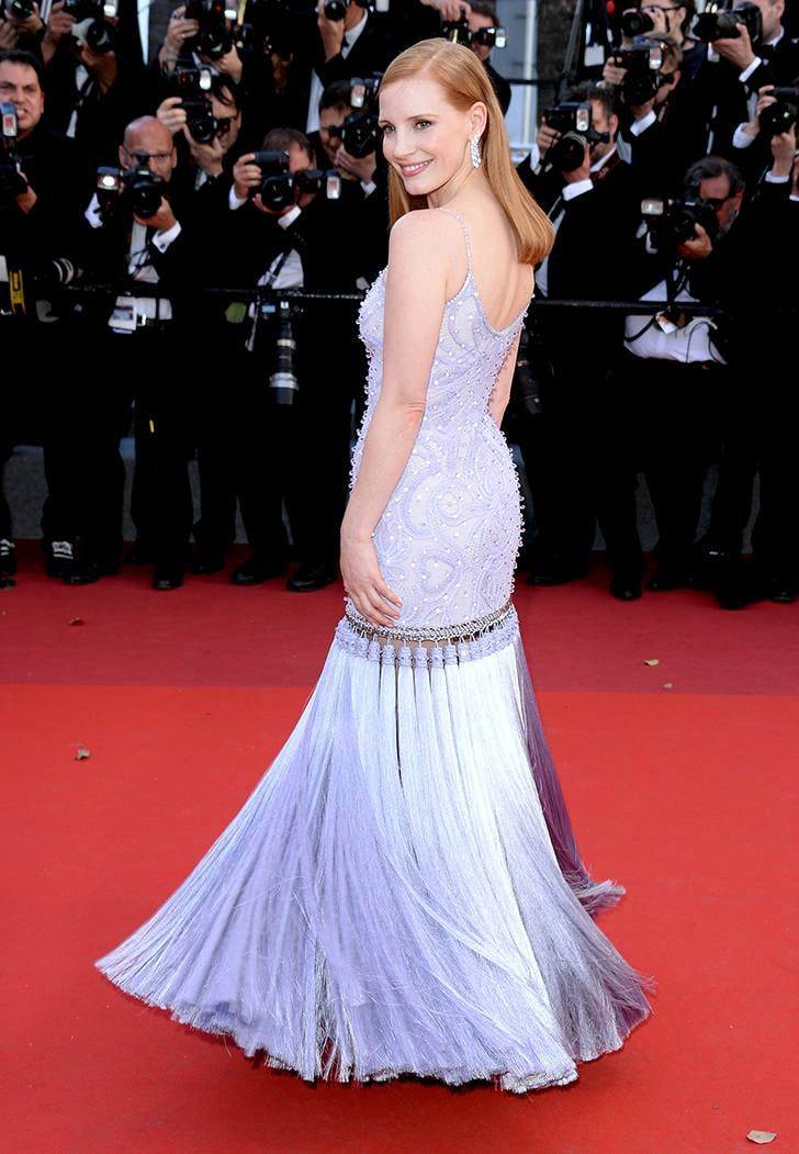cannes film fest fashion jessica chastain