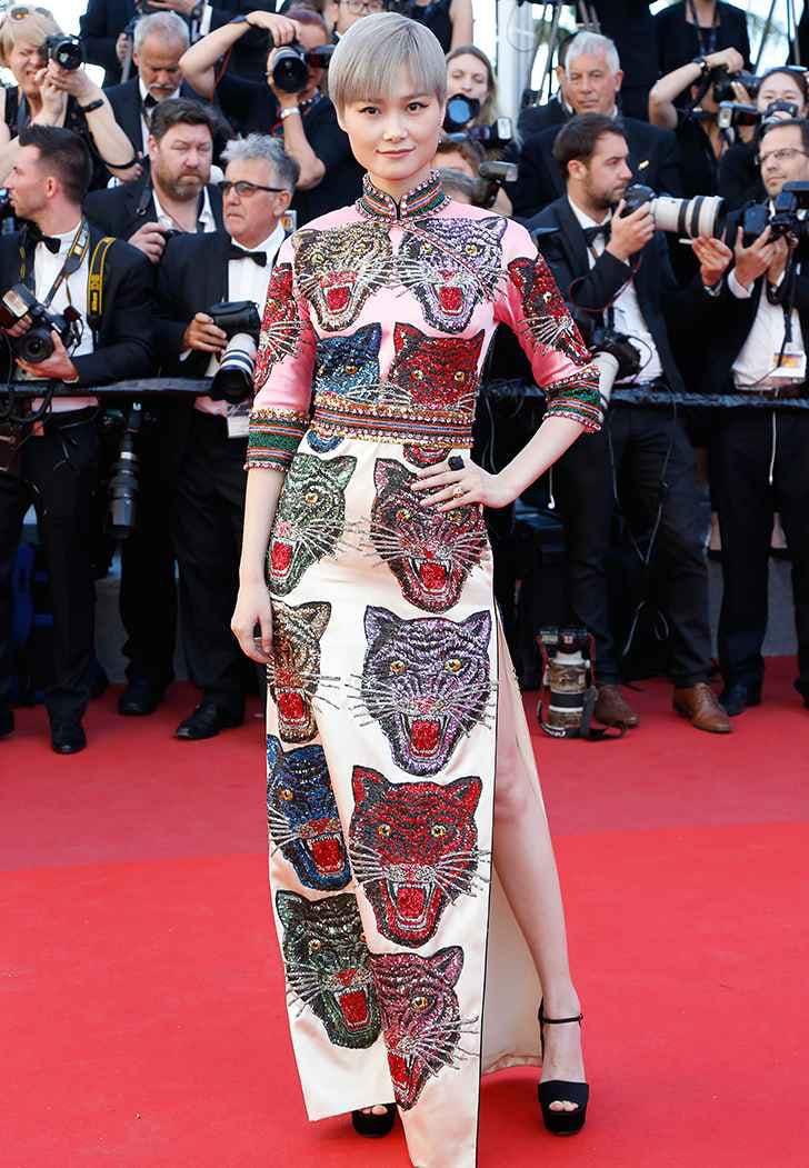 cannes film fest fashion li yuchun