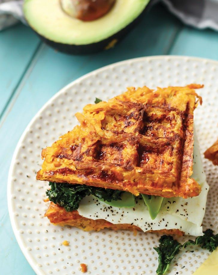 clean dinner waffle sandwich