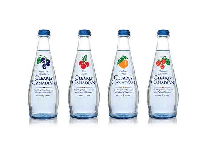 clearly canadian sparkling water