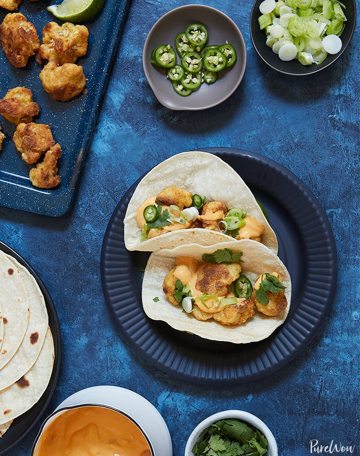 crispy cauliflower tacos LIST