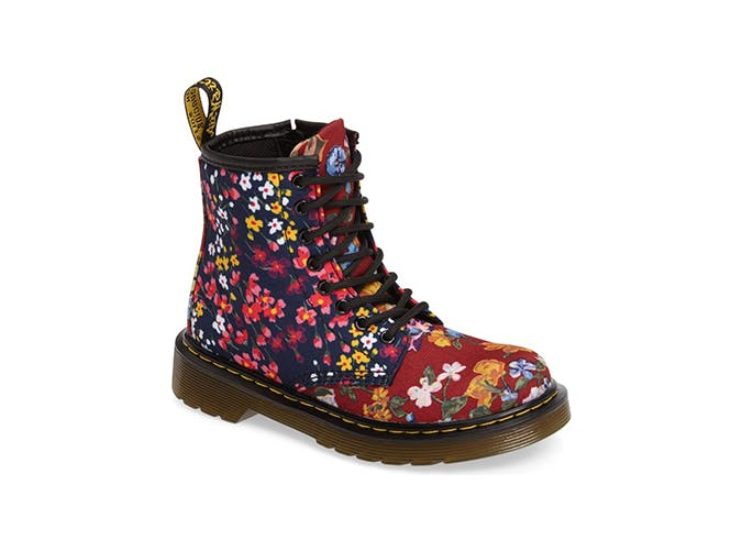 doc martens floral kids shoes