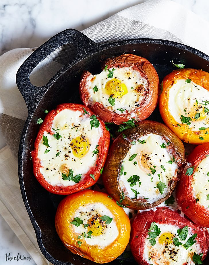 eggs baked in tomatoes skillet LIST