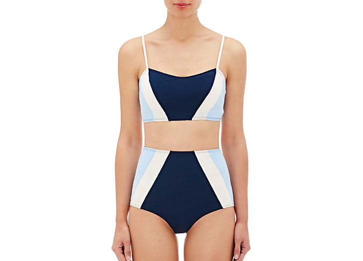 flagpole perry colorblock bikini swimsuits NY