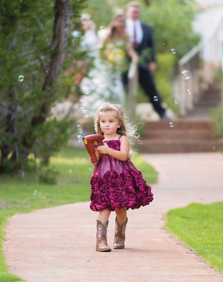 flower girl bubble
