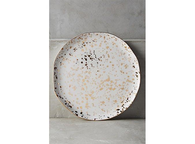 gold glitter plates