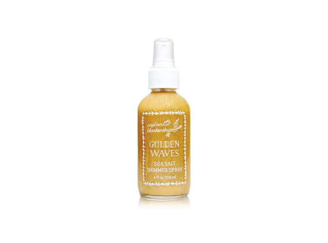 golden waves shimmer sea salt spray