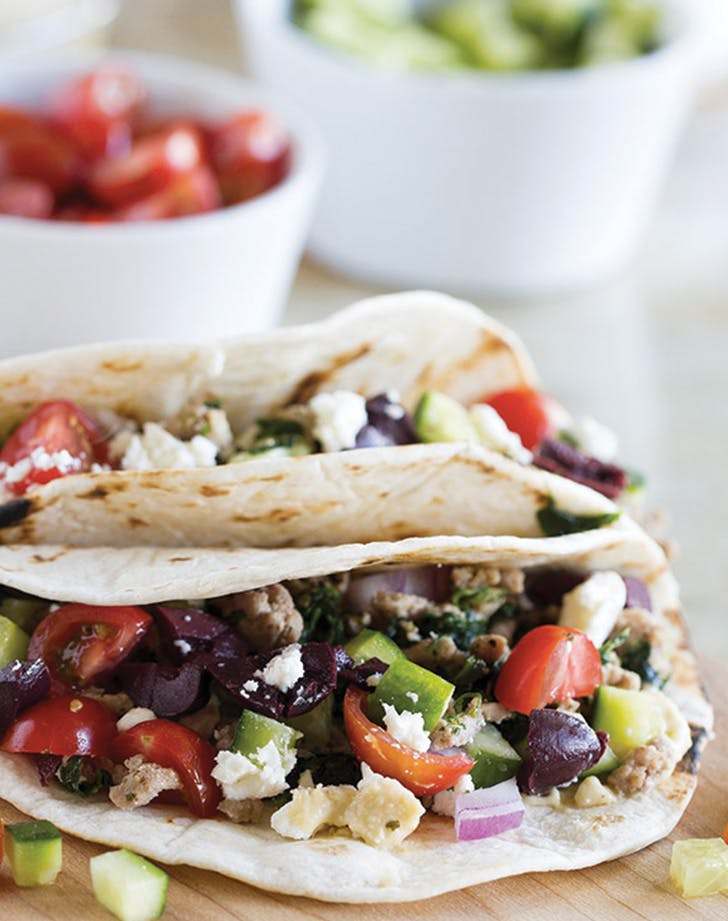 greek food tacos