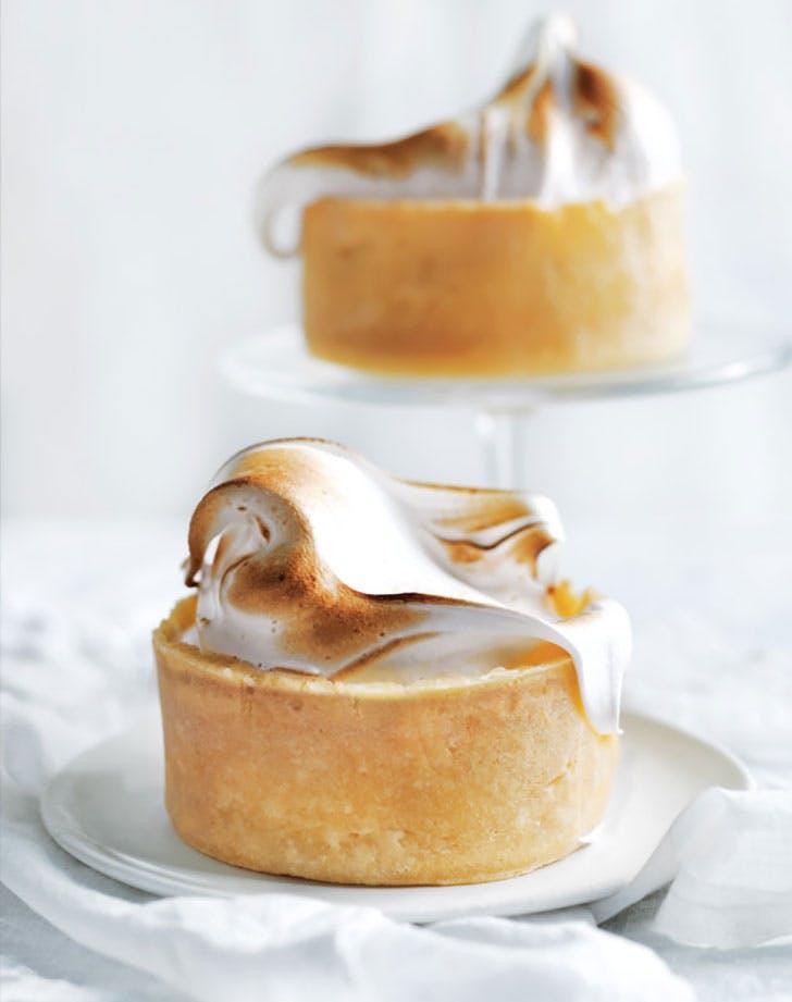 individual lemon meringue cheesecakes