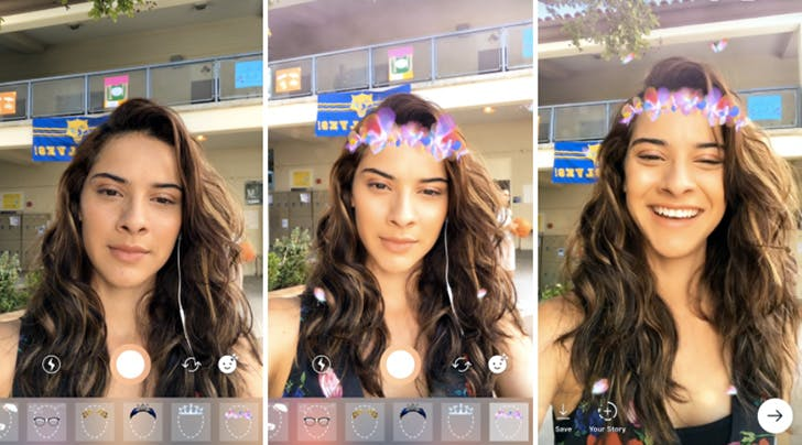 Obsession Alert: Instagram Just Launched Face Filters (Ya Know, Like from Snapchat)