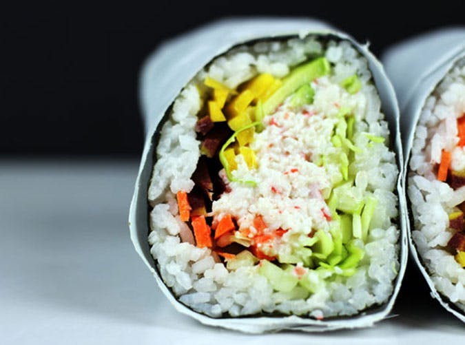 june dinners california roll burrito