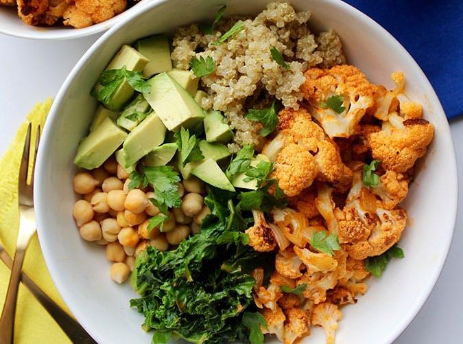 june dinners cauliflower bowl