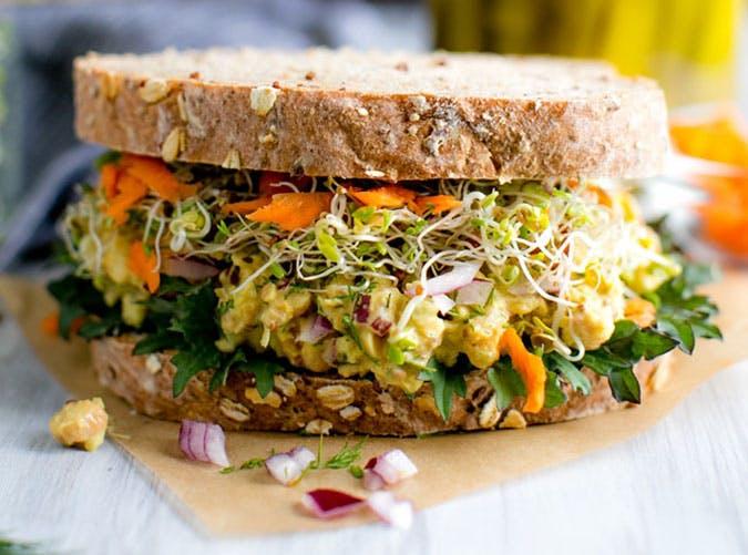 june dinners chickpea sandwich