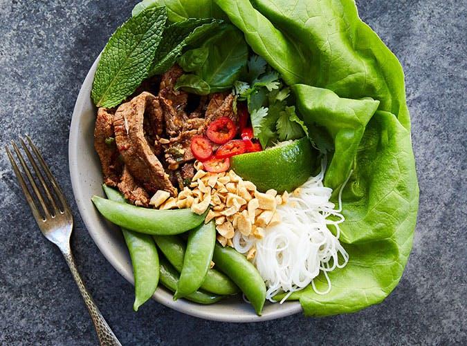 june dinners thai beef bowl