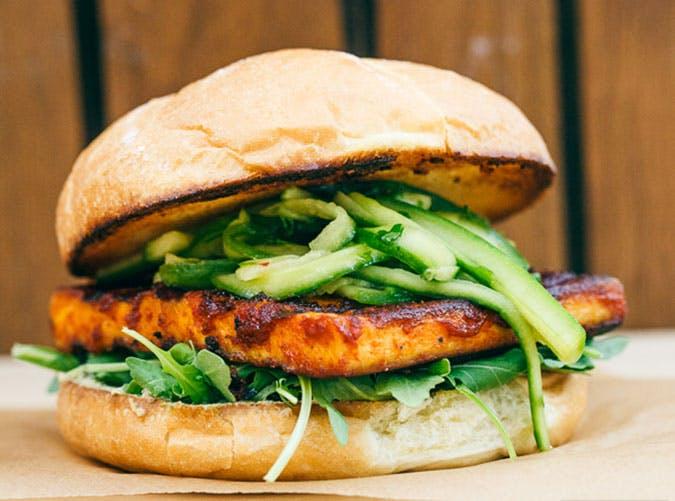 june dinners vegan burger