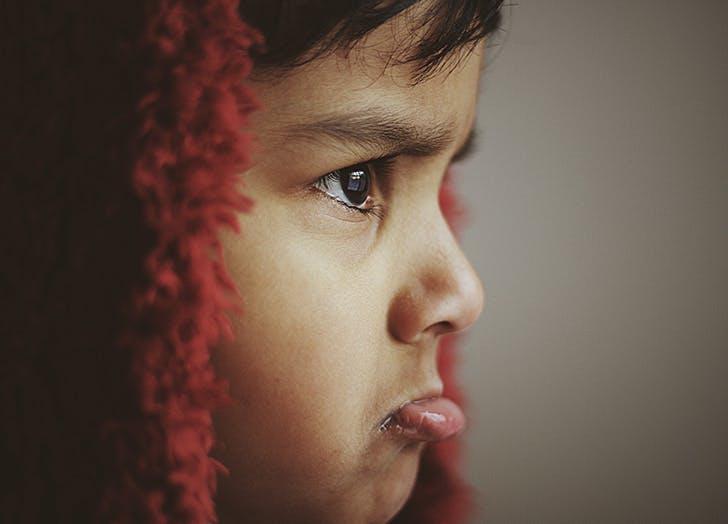 kid swearing angry