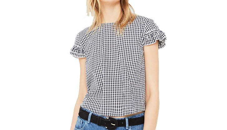 mango gingham blouse