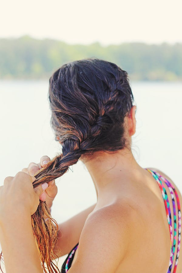 miami beachy waves wet hair braid