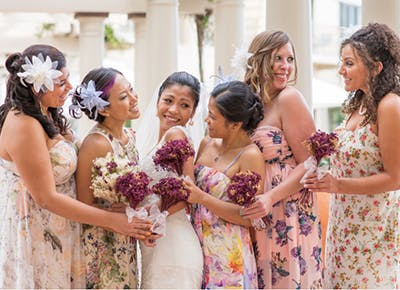 How To Coordinate Mismatched Bridesmaids Dresses Purewow