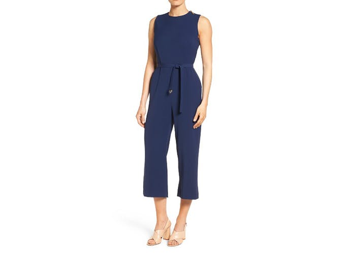 navy michael kors jumpsuit to work